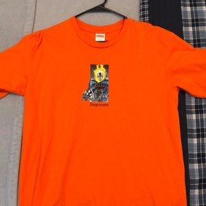 Supreme orange ghost rider tee. *WORN ONCE*